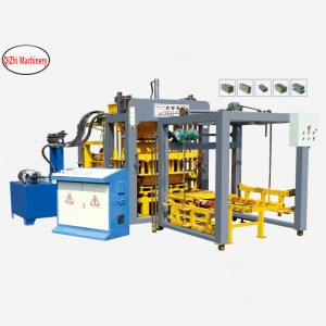 Application of automatic fire free brick machine (QT4-15S block molding machine)
